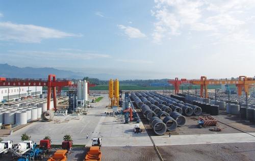 PCCPE成套设备用于南水北调北京段工程现场