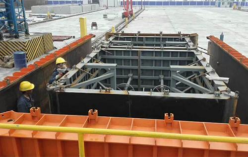 双仓预制箱涵模具用于十堰地下综合管廊工程