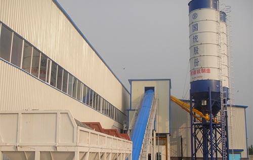 HZS90搅拌机用于国统股份管片生产线