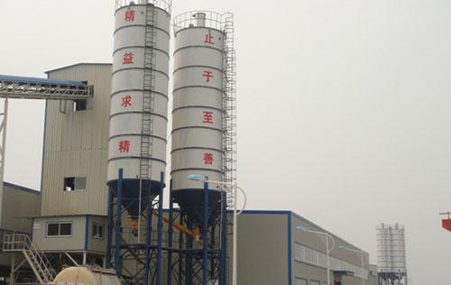 HZS90搅拌站用于镇江华龙建材管桩生产线