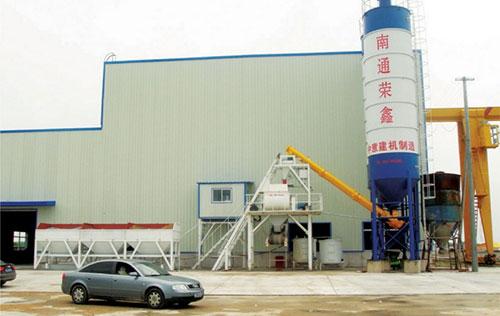 HZS50搅拌站用于南通容鑫芯模振动生产线