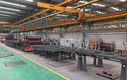 管廊钢筋焊接生产线用于中意建机生产基地
