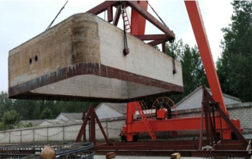 顶管起吊架用于扬州中意生产现场